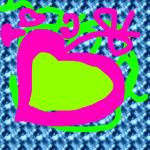Srce ciklama. zeleno