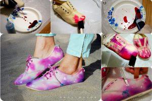 Oslikajte bojama stare jednobojne patike,ove sezone oslikana obuća je hit