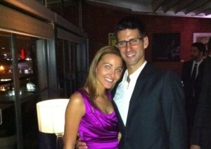 Novak DJokovic sa devojkom Jelenom Ristic u svecanoj varijanti