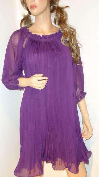 Nežna haljina jorgovan boje