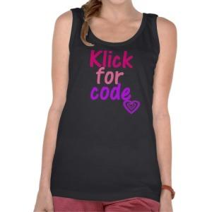 Ovu majicu mogu nositi i punije osobe link za narucivanje: http://www.zazzle.com/klick_for_code_t_shirt-235191625018280585