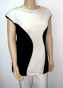 Crno bela tunika za punije
