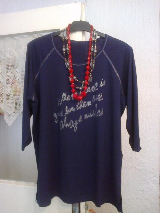 Majica,pamuk,3/4 rukav,3XL ,cena 1000 dinara