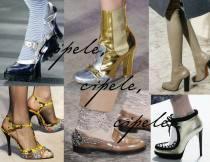 Puno zlata na obući.
