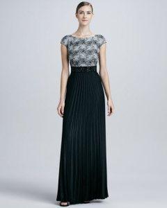 Plisirana suknja za veče