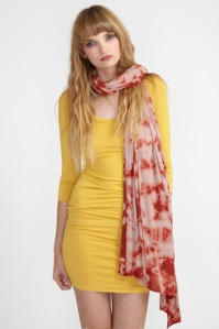 7- CUMIN DAZED 3_4 SLEEVE TOP, CUMIN BANDAGE MINI, SPICE TIE DYE RIB WRAP