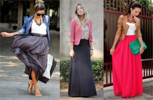 Duge suknje su moderne i idealne su za punije osobe