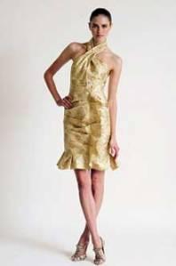 Haljina-Carolina-Herrera-zlatna