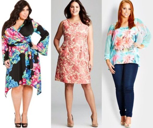 Plus-Size-Spring-Summer-2014-Flower-Print-Trend